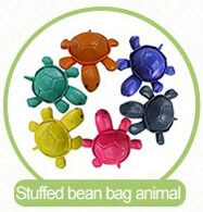 six colors animal bean bag